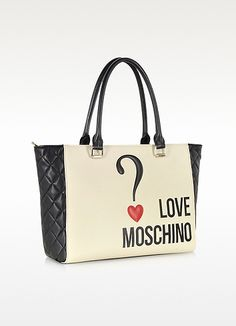 Color Block Eco Leather Shopper Tote - Moschino