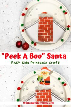 This kids Christmas craft is sure to excite from preschoolers to older kids! (Heck I even had fun with it!) This kids christmas craft is easy to make - print out the template, paste and decorate! 3d Christmas, Christmas Crafts For Kids, Simple Christmas, Holiday Crafts, Holiday Fun, Toddler Christmas, Family Christmas, Christmas Presents, Holiday Ideas