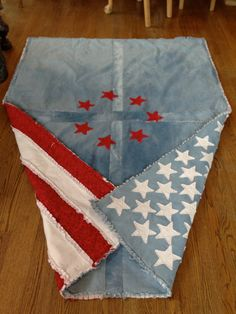 Gorgeous American Flag Quilt made from by isabellabluedesigns
