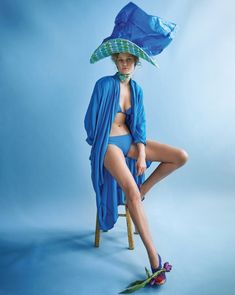 Awesome styling :: Toni Garrn Sports Colorful Hats & Swim Looks for Vogue Korea - Fashion Gone Rogue