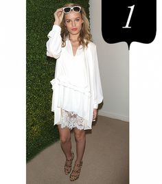 10 ays to ear a white dress