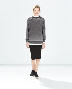 DEVORÉ SWEATSHIRT from Zara