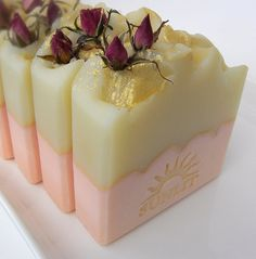 Handcrafted Artisan Soap. Delicate Rose Scent. Belle by Sunlitsoap, $6.50