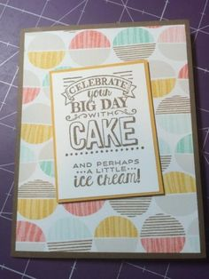 Stampin' Up! 2015 Sale-A-Bration: Best Year Ever Designer Series Paper and Big Day by jadoherty - Cards and Paper Crafts at Splitcoaststampers
