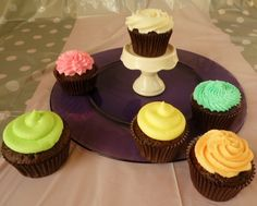 Chocolate Cupcakes with Pastel Icing by BabyCakes Bakery:: www.babycakesbakery.co.za Pastel Cupcakes, Rainbow Pastel, Chocolate Cupcakes, Icing, Bakery, Desserts, Food, Meal, Bakery Shops
