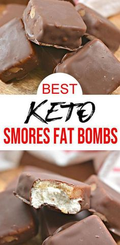 Keto Fat Bombs – BEST Keto Smores Fat Bombs – {Easy – NO Bake} NO Sugar Marshmallow – Graham Cracker – Chocolate Low Carb Recipe Check out this keto Smores candy fat bombs. Low Carb Desserts, Low Carb Recipes, Healthy Recipes, Vegetarian Recipes, Keto Fat, Low Carb Keto, Ketogenic Recipes, Ketogenic Diet, Bon Dessert
