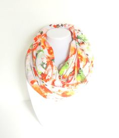 Floral Scarf Spring Infinity Scarf Colorful by FashionelleStudio