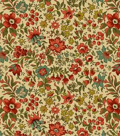 Keepsake Calico Fabric- Country Charmfloral Tan & quilting fabric & kits at Joann.com