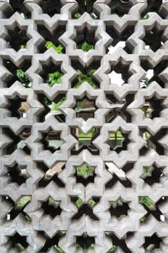 Picture of cement block with ventilation holes stock photo, images and stock photography. Concrete Facade, Concrete Wood, Decorative Concrete Blocks, Outdoor Restaurant Patio, Brick Wall Gardens, Breeze Block Wall, Detail Architecture, Mid Century Exterior, Ceramic Mosaic Tile