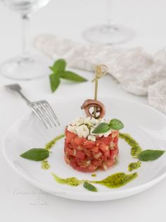 Rosa Sauce, Vegetarian Recipes, Cooking Recipes, Healthy Recipes, Mozzarella, Tapas, Red Vegetables, Steak Tartare, Mango