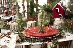 Mesa assinada por Isabel Yunes. Fonte: Casa Claudia  #Christmas #Natal #mesa posta