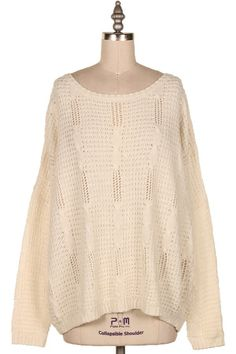 CABLE KNIT SWEATER.  #3N-BL844