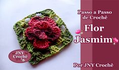 Passo a Passo Flor de Crochê Jasmim por JNY Crochê