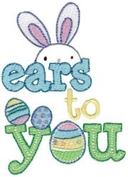 Sweet Easter 13 - 2 Sizes! | Words and Phrases | Machine Embroidery Designs | SWAKembroidery.com Bunnycup Embroidery