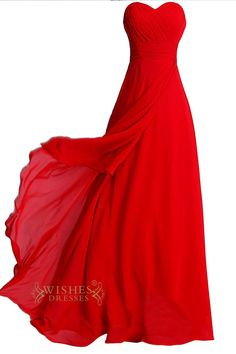 Red chiffon dress with ruching bodice and asymmetrical layer skirt,this dress can be use as bridesmaid dress and prom dress. Neckline:Sweetheart Length:Floor length Details:Beads Fabric:Elastic Satin,