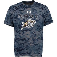 Navy Midshipmen Under Armour Tech Novelty Camo T-Shirt - Navy - $33.99