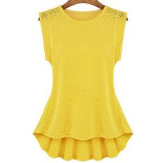 Fabulous Round Neck Sleeveless Blouse with Ruffle #spring #style #trend