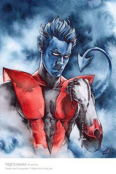 #Nightcrawler #Diablo #Xmen Marvel Art, Marvel Comics, X Men Personajes, Marvel Characters, Fictional Characters, Wolverine, Joker, The Incredibles, Comic Art