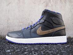 differently 43c2f c790d Promotion Nike Air Jordan 1 Mid Nouveau - BHM Black Court Purple 629151-009  Size