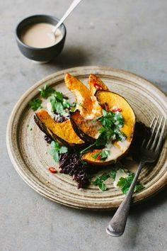 Roasted pumpkin with