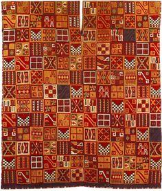Les tissus incas ont souvent des couleurs très vives et décorés de symboles