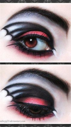 Halloween maquillage aile de chauve souris