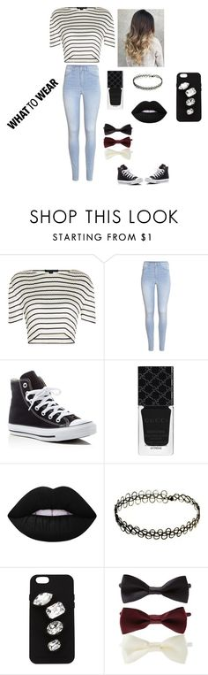 """Untitled #27"" by sara1386 on Polyvore featuring Alexander Wang, H&M, Converse, Gucci, Lime Crime, STELLA McCARTNEY and Forever 21"
