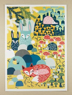 vintage rainforest poster   ... Posters, Metsänaapurit Posters, Muumuru Metsänaapurit, Vintage
