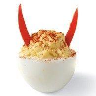 A true deviled egg! Halloween Appetizer