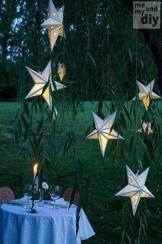 How To Make Your Own Paper Star Lanterns | http://homestead-and-survival.com/make-paper-star-lanterns/ | Paper star lanterns are a distinctive, unique, and elegant addition that will make any home or property special.