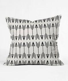 Black & White Arrows Throw Pillow