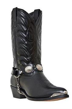 fb039e1d4b4f6 A look for REAL cowboys! Laredo Men s Black Tallahassee Harness Cowboy Boots  Cowgirlstövlar