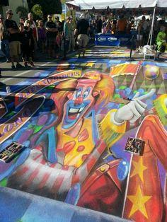 Chalk Art Chalk Festival, Chalk Art