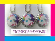 15 UNICORN princess rainbow fairy sparkle bottle by charmingspot, $14.99