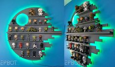 DIY Color-Changing Death Star Figure Shelf