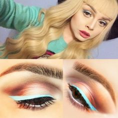 Our Lime Crime girl lunalovebad looking gorg in Blue Milk liner!