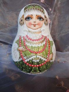 Татьяна Ролина(Латалина) - мои работы..   OK.RU Matryoshka Doll, Kokeshi Dolls, Wooden Figurines, Russian Art, Designer Toys, Art Dolls, Folk Art, Christmas Diy, Hand Painted
