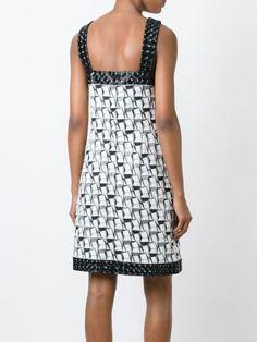 Chanel Vintage жаккардовое платье с геометрическим узором