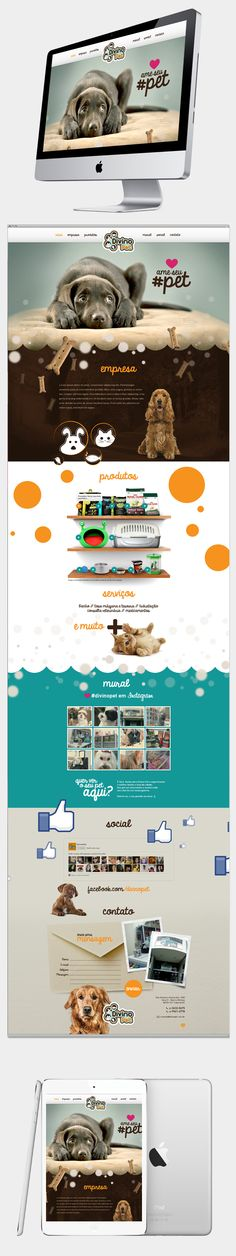 Divino Pet - Site institucional on Behance