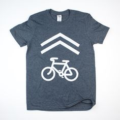 Bike share lane tee shirt. Dark gray Charcoal color with white ink. – RivertownInkery