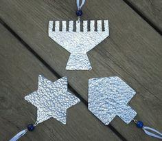 Hanukka decorations Judaica - Happy Hanukkah - Jewish Holiday - Star of David - Menorah - Dreidel - Jewish Decor by CarmelsArt on Etsy