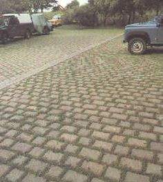 Aquada Paving - spaced for permeable driveway surface, this page also gives advice on which seed mixes do best for regular driveway use