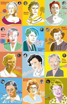 Imagen insertada Female Heroines, Philosophy Of Science, Girl Empowerment, Black Artwork, Science Art, Data Science, Power Girl, Women In History, Famous Women