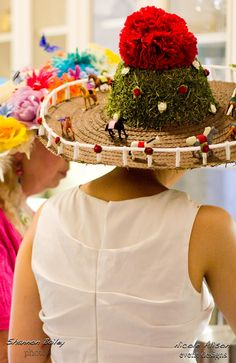 Kentucky Derby hat party.  I will HAVE TO make myself one of these! So creative!  i want to meet this person!