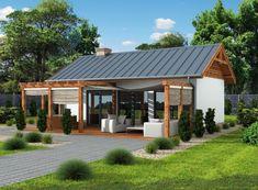 Mały letniskowy domek, posiada aż 4 warianty  zagospodarowania wnętrza. Sprawdź koniecznie!