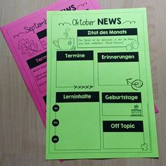 """Gest… The parents of my class get every month a newsletter from me. Yesterday there was the """"September News"""" on the parents' evening. Classroom Organisation, School Organization, Classroom Management, Class Teacher, Teacher Hacks, Creative Teaching, Teaching Tips, Classroom Newsletter, School Of Rock"""