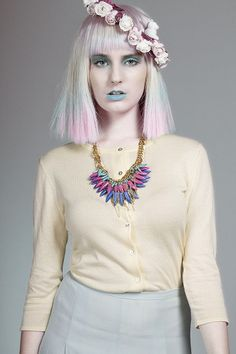 """""""Pastel"""" Makeup and Nails & Hair I did recently for a shoot, wig supplied by Wasp Hair Australia"""