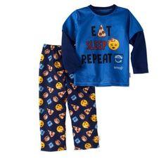 emoji boysu0027 u0027eat sleep repeatu0027 2 piece sleep pant set size