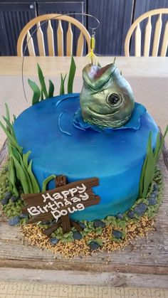 Картинки по запросу fishing birthday cakes