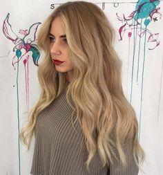 Creamy Blonde Balayage Hairstyle